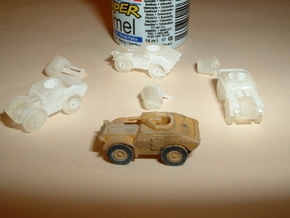 Italian Autoblindo TL 37 Scout Car 1/285 6mm in Smooth Fine Detail Plastic