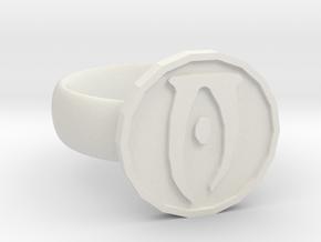 Oblivion Ring in White Natural Versatile Plastic