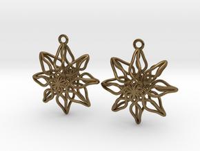 Change Flower Earrings in Polished Bronze