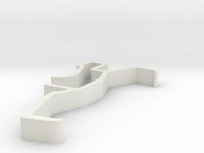 Blind Valance Clip 00159 in White Natural Versatile Plastic