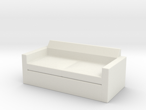 Sofa, Quarters (Space: 1999), 1/30 in White Natural Versatile Plastic