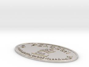 Pearson Badge 268 in Platinum