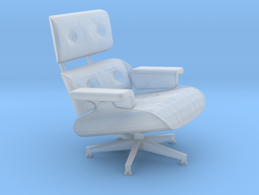 Eames Chair HiRez, 1/30 in Smooth Fine Detail Plastic
