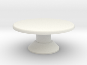 Table, Mezzatessera, Round, Low (Space: 1999) 1/30 in White Natural Versatile Plastic