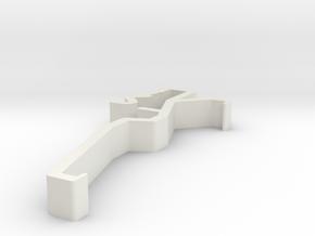 Blind Valance Clip 00150 in White Natural Versatile Plastic