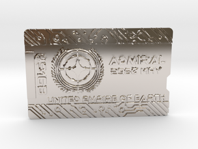 Starcitizen Admiral Keycard - Horizonal in Rhodium Plated Brass