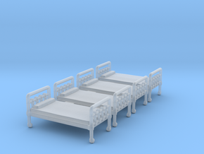 Bed 01. N Scale (1:160) in Smooth Fine Detail Plastic
