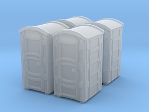 Portable Toilet 01. Z Scale (1:220) in Smooth Fine Detail Plastic