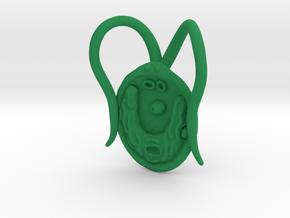 Chlamydomonas Pendant - Science Jewelry in Green Processed Versatile Plastic