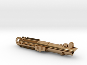 Graflex keychain - version 02 in Polished Brass