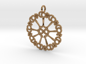 Axoneme Pendant - Science Jewelry in Polished Brass