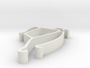 Blind Valance Clip 00167 in White Natural Versatile Plastic