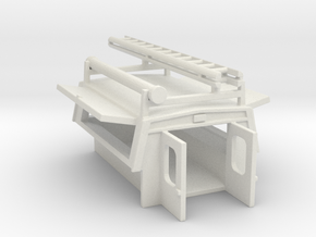 Utility Enclosure Open, RPS Truck Bed With Ladder/ in White Natural Versatile Plastic: 1:87