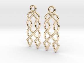 Celtic Weave Earrings - WE027 in 14k Gold Plated Brass