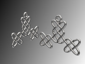 Celtic Weave Earrings - WE025 in Polished Silver