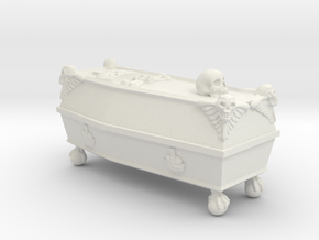 Imperial COFFIN 28mm RPG prop  in White Natural Versatile Plastic