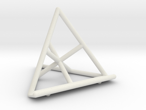 Tetrahedral Tablet Stand in White Natural Versatile Plastic