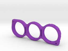 Shaped Fidget Spinner 2 in Purple Processed Versatile Plastic