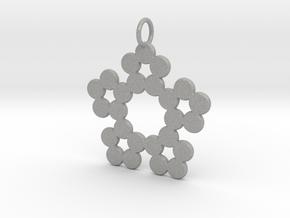 Circles Snowflake Pendant Charm in Aluminum