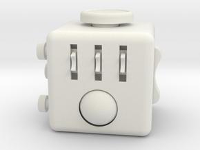 Fidget Cube.  in White Natural Versatile Plastic