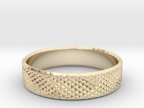 0217 Lissajous Figure Ring (Size8.5, 18.5mm) #022 in 14k Gold Plated