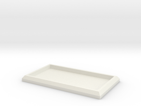 Tiny Model Movement Trays in White Natural Versatile Plastic