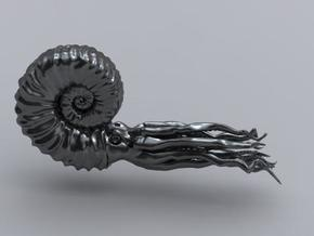 Ammonite 8.4 cm in Smooth Fine Detail Plastic