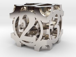 Daedal D6 - 16mm die in Rhodium Plated Brass