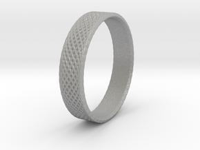 0101 Lissajous Figure Ring (Size9.5, 19.4mm) #002 in Aluminum