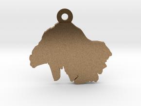 Keyring / Pendant in Natural Brass