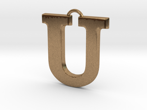 U Pendant in Natural Brass