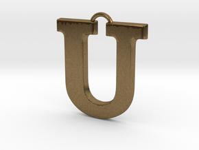 U Pendant in Natural Bronze