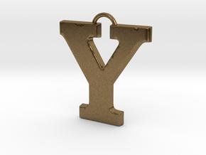 Y Pendant in Natural Bronze