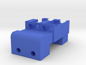 Neoden 2-Gang, 12mm feeder block in Blue Processed Versatile Plastic