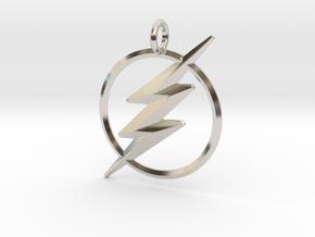 The Flash Keychain in Rhodium Plated Brass