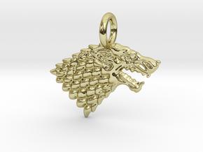 Stark Sigil Keychain in 18k Gold Plated Brass