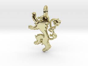 Lannister Sigil Keychain in 18k Gold Plated Brass