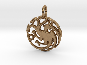 Targaryen Sigil Keychain in Natural Brass