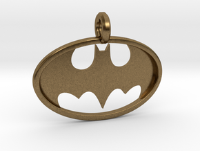 Classic Batman Keychain in Natural Bronze
