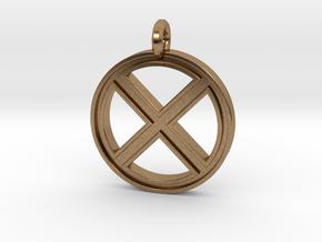 X-Men Keychain in Natural Brass