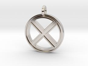 X-Men Keychain in Rhodium Plated Brass