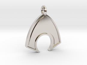 Aquaman Keychain in Rhodium Plated Brass