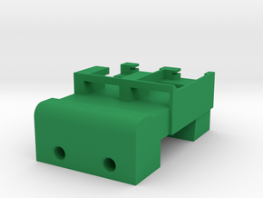 Neoden 2-Gang, 16mm feeder block in Green Processed Versatile Plastic