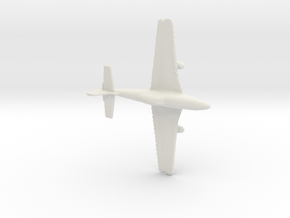 1:285 P-51 Mustang in White Natural Versatile Plastic