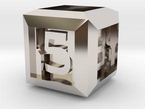 Sci-fi Crate D6 - 16mm die in Platinum