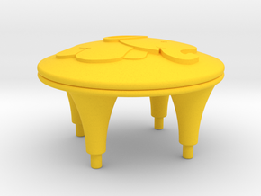 Tingling Toy Top in Yellow Processed Versatile Plastic