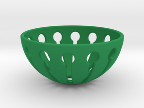Tingling Toy Balls Basket  in Green Processed Versatile Plastic