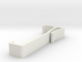 Blind Valance Clip 00140 in White Natural Versatile Plastic