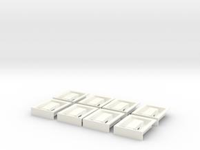 1.8 Poignees De Trappes EC in White Processed Versatile Plastic