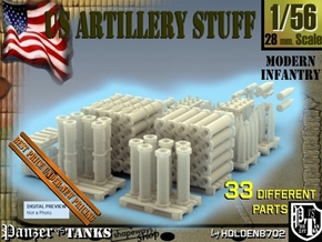 1-56 US Artillery Stuff in Smooth Fine Detail Plastic